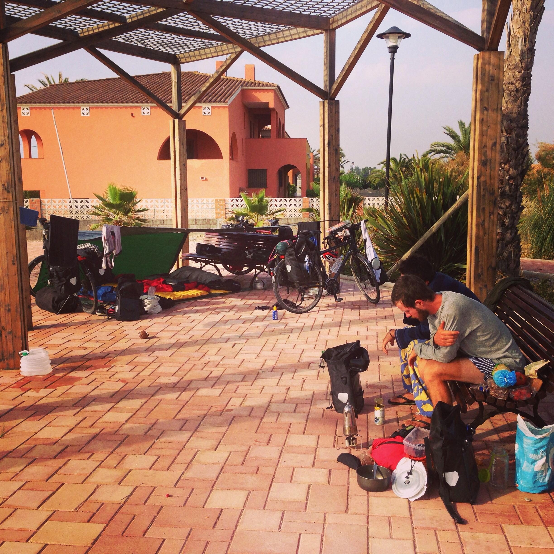 Wild camp in Casablanca