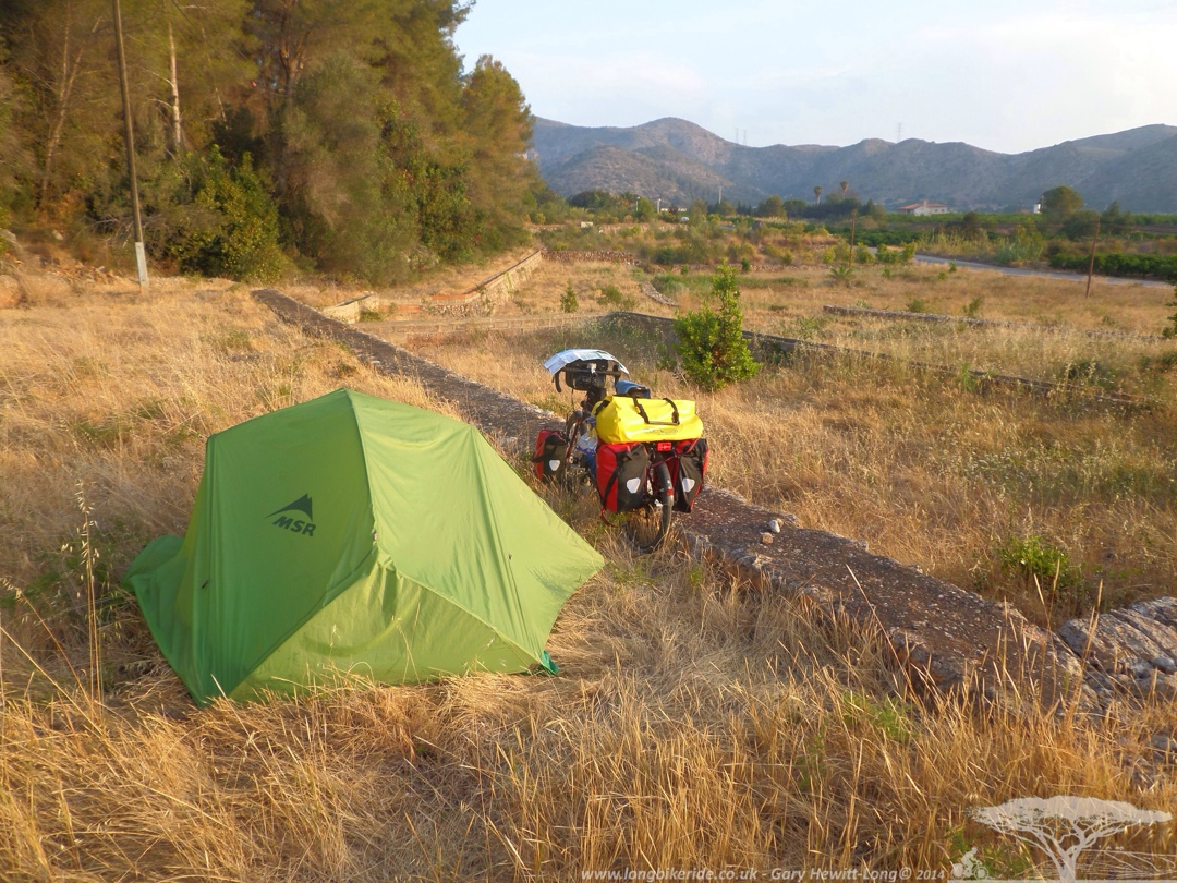 Camping on an old orange terrace