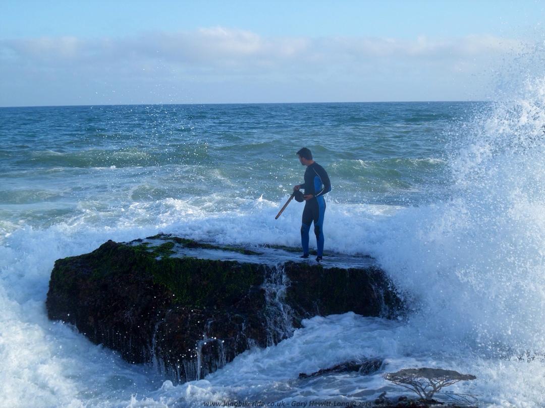 Stood perilously on the rocks