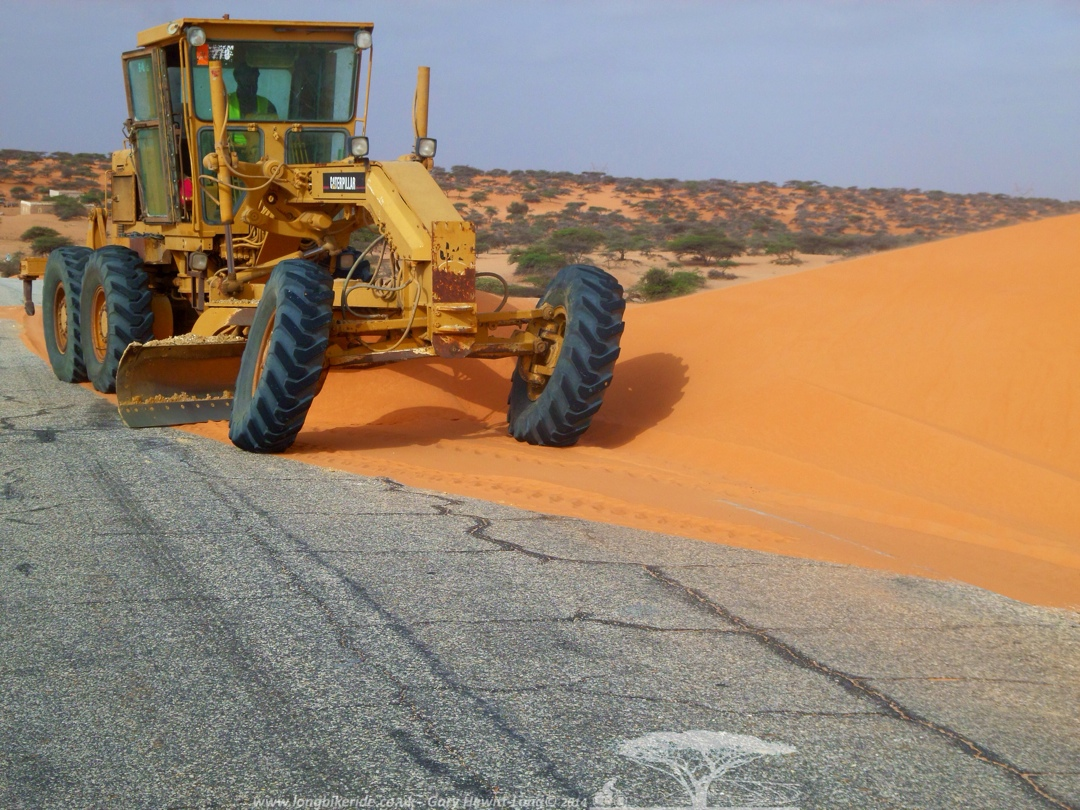 Reclaiming the road from the encroaching sand