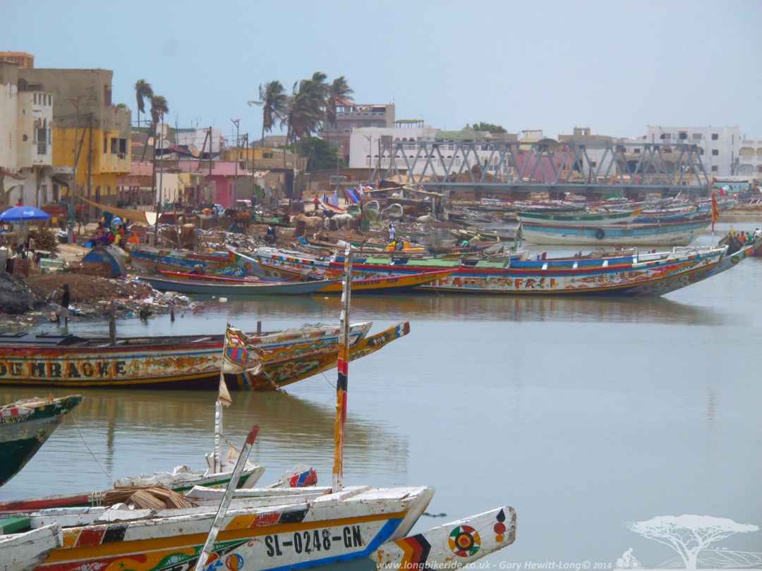 Senegalese fishing boats in St Louis