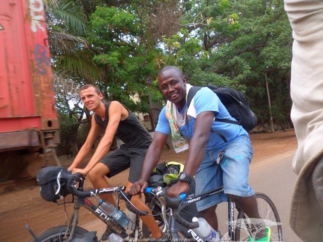 Ibrahima with Wouter (Banjul)