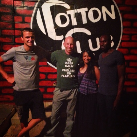 A night out at the Cotton Club in Bamako with Wouter and new friends from the Sleeping Camel