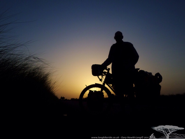 Me and my Bike at Sunset.