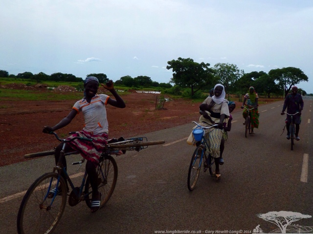 Ladies on bikes in Burkina