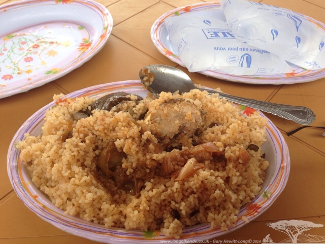 Fried Rice from La Presse Cafe in Burkina Faso