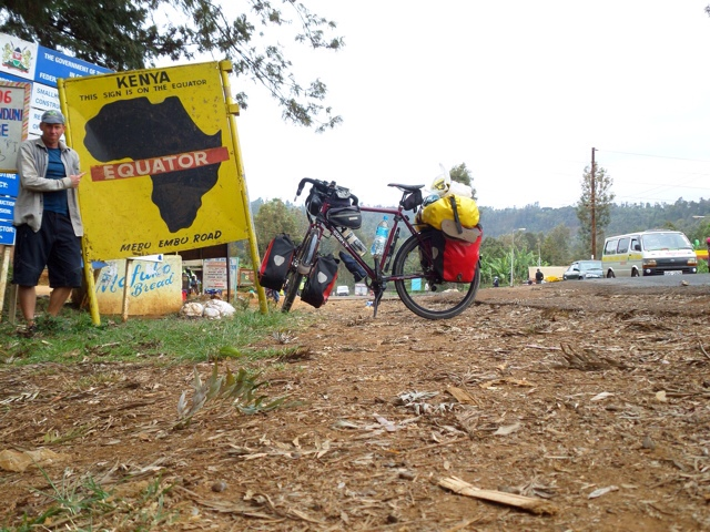 The Equator on the road to Meru