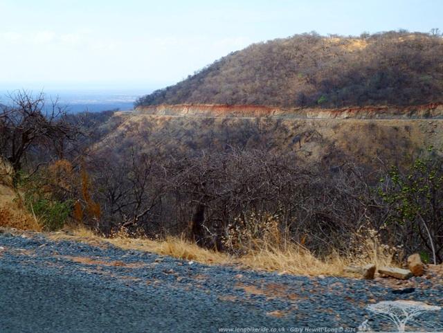 Road cut into the hills