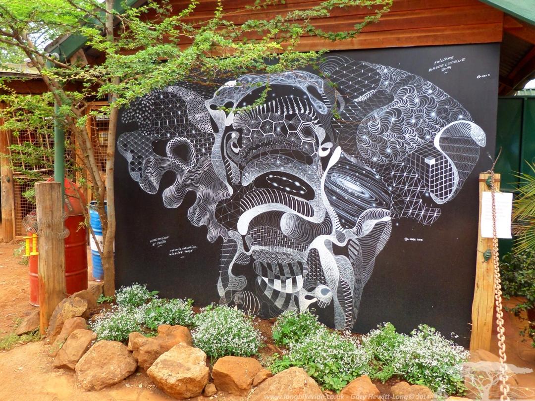 Elephant Mural at the David Sheldrick Trust, Kenya