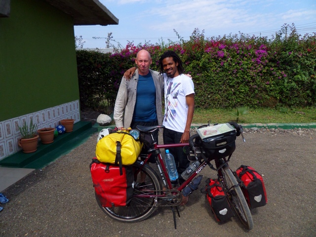 Benson and I - The Greenhouse Hostel - Arusha