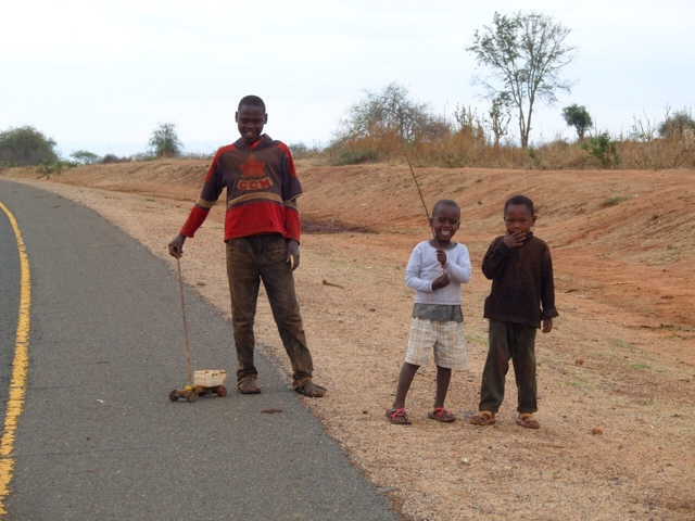 Children Playing By The Road - Not Asking For Money