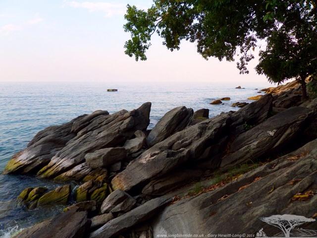 Rocks at the edge of Lake Malawi