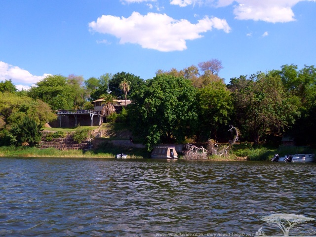 The Gwabi River Lodge on the Kafue River, Zambia