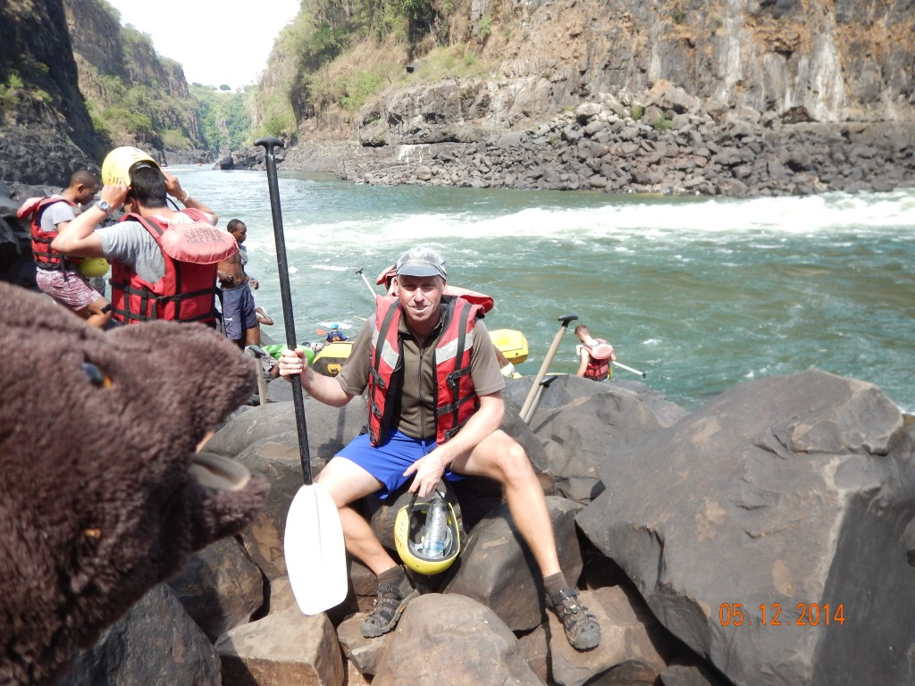 Waiting to go Rafting by Victoria Falls, Zambia