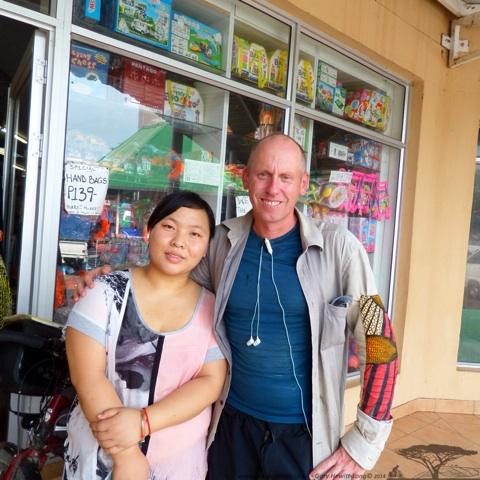 Aisla who cut my Sim for free in Kasane, Botswana