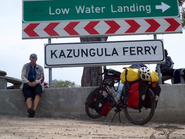 The Kazangula Ferry from Zambia to Botswana