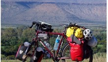 Loaded Touring Bike in South Africa