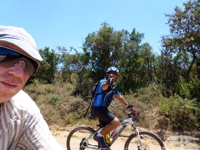 Dominicue and I riding to Port Alfred
