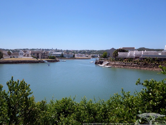 Getting close to the sea, nice houses in marina at Port Alfred, South Africa