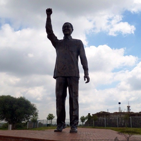 Another statue of Mandela, Naval Hill, Bloemfontein