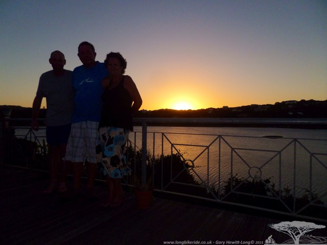 Sunset in Kleinmonde with Collin and Fiona
