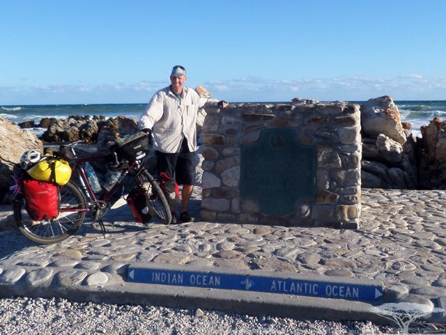 Thr most Southern point of Africa and the dividing point of the Indian and Atlantic Oceans - Cape Agulhas