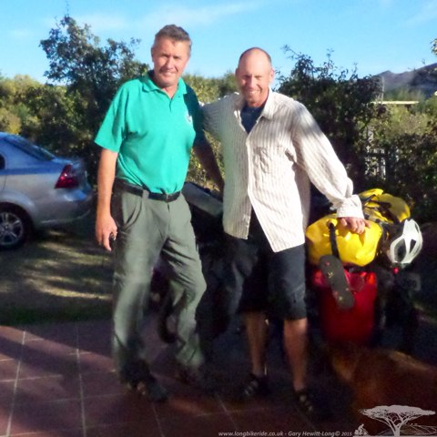 Mark and I from Otters Bend Lodge - Franshhoek