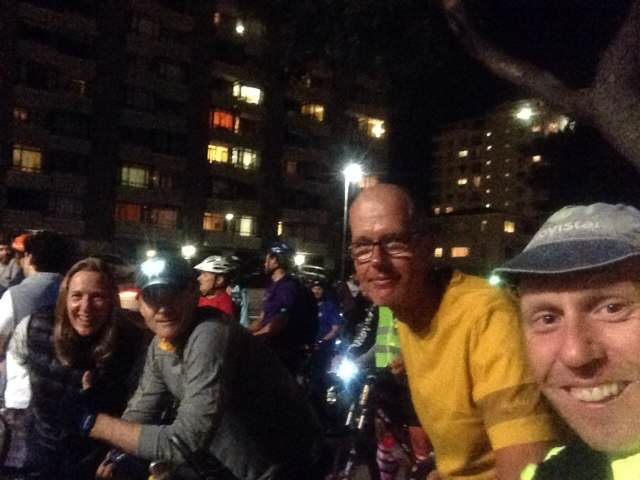 Maren, Ralf, Richard and I riding the Cape Town Moonlight Ride