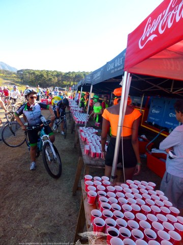 Feed Station along the Route - Lots of Evil Coke!