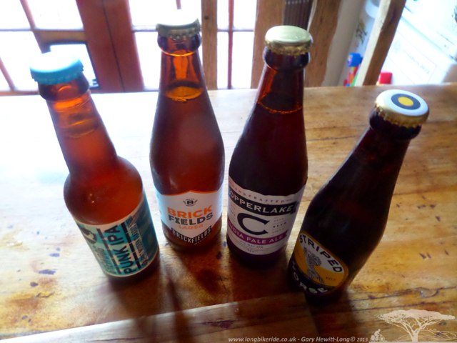 Craft Beers - not missing IPA quite so badly now I'm in Cape Town