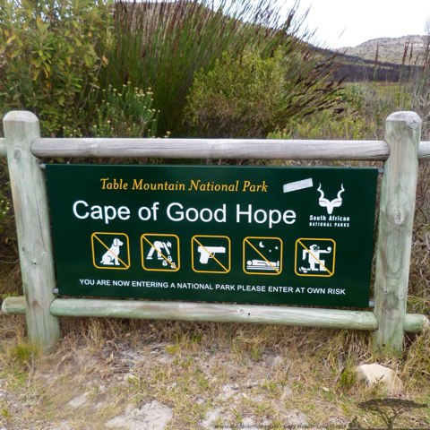 Cape of Good Hope, the warning on the far right a little odd..