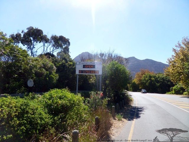 Chapmans peak now open - opened the day after the Argus Cape Cycle Tour